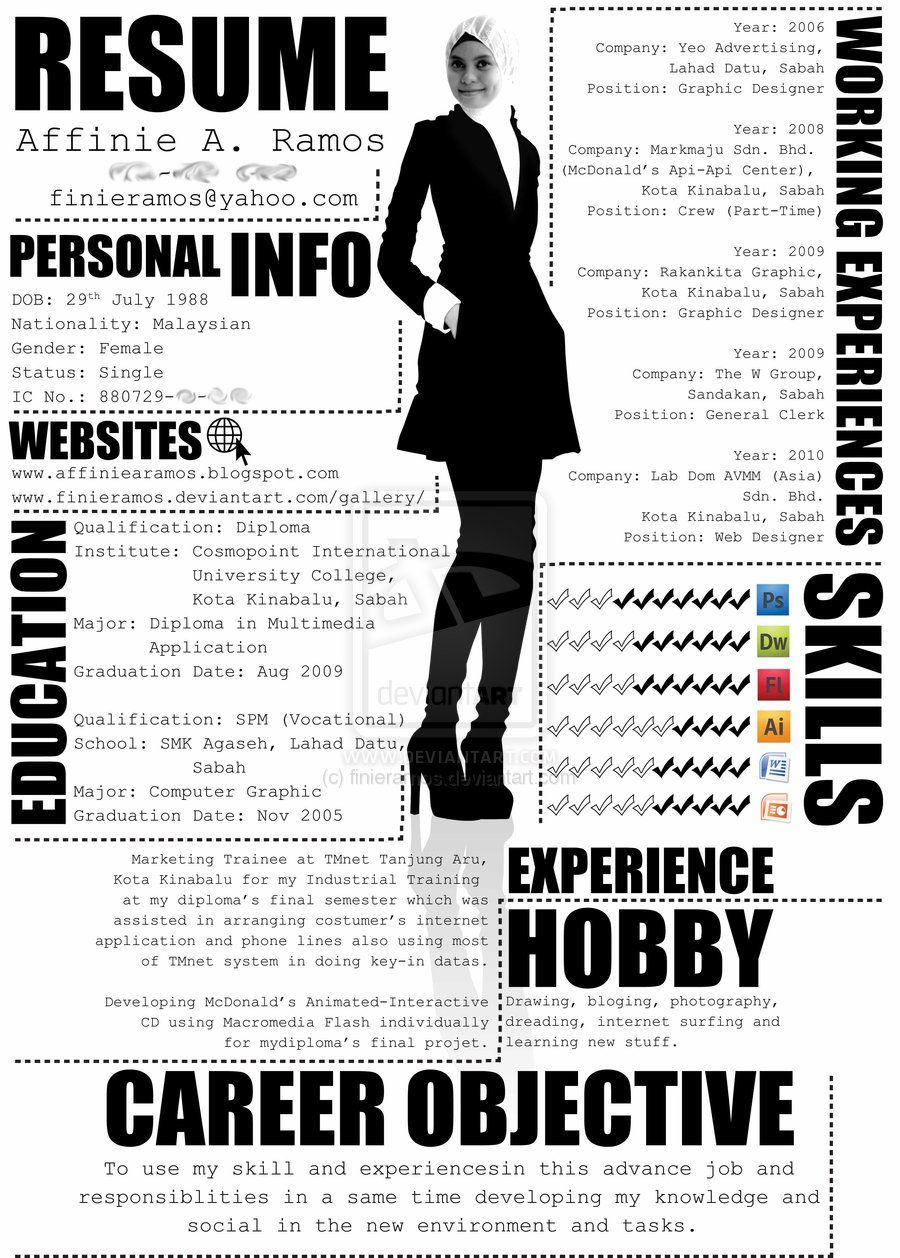 creative resume design examples on pinterest