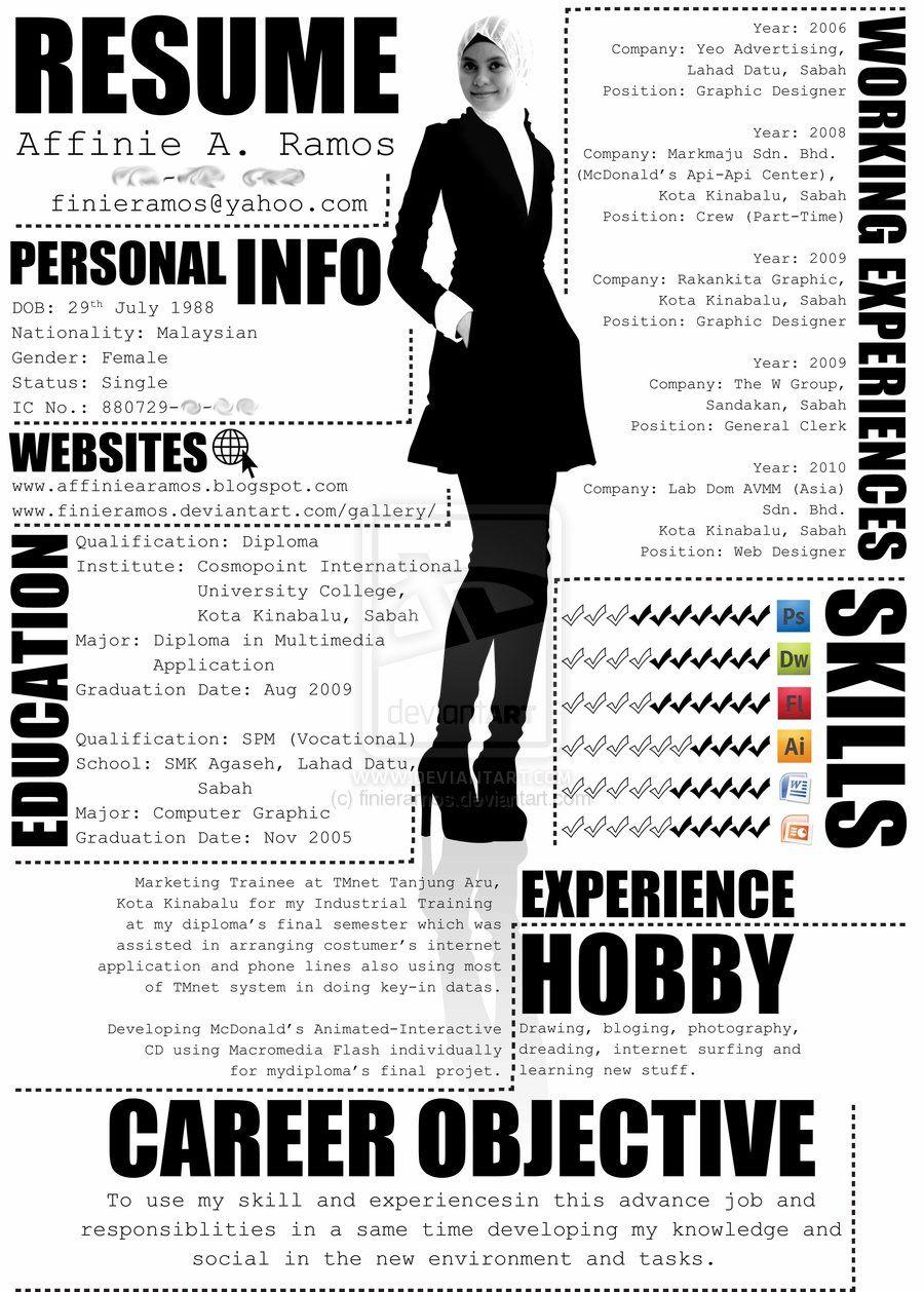 resume Most Creative Resumes my resume by finieramos d3grehq jpg pinterest jpg