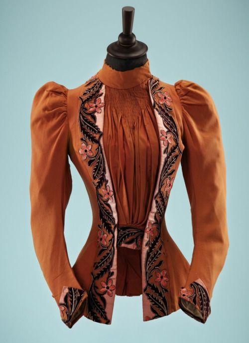 Ephemeral Elegance | Appliqued Wool Bodice, ca. 1890s via Fashion Blog