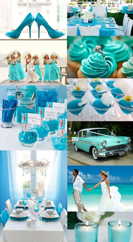 Turquiose wedding mood board  Wedding Color  Hochzeit