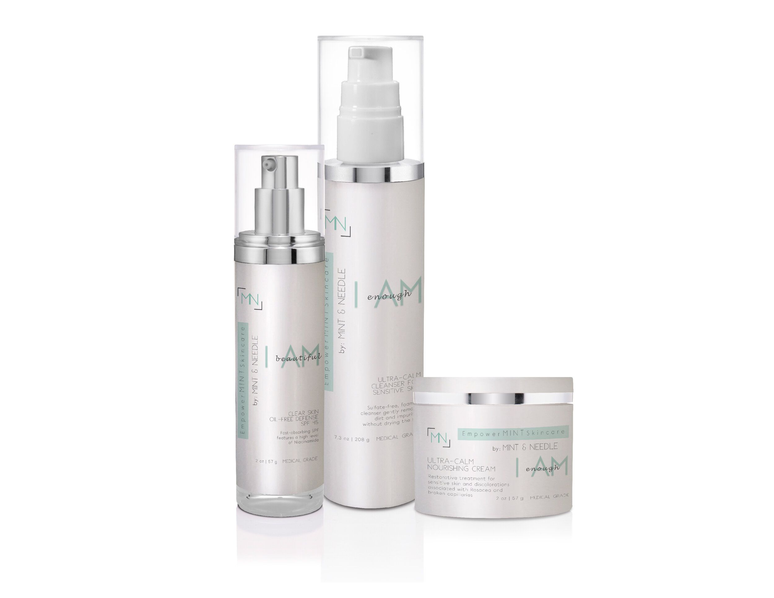 I Am Enough Ultra Calm Skincare Kit Part Of The Empowermint By Mint Needle Line T Skin Care Kit Organic Anti Aging Skin Care Cleanser For Sensitive Skin