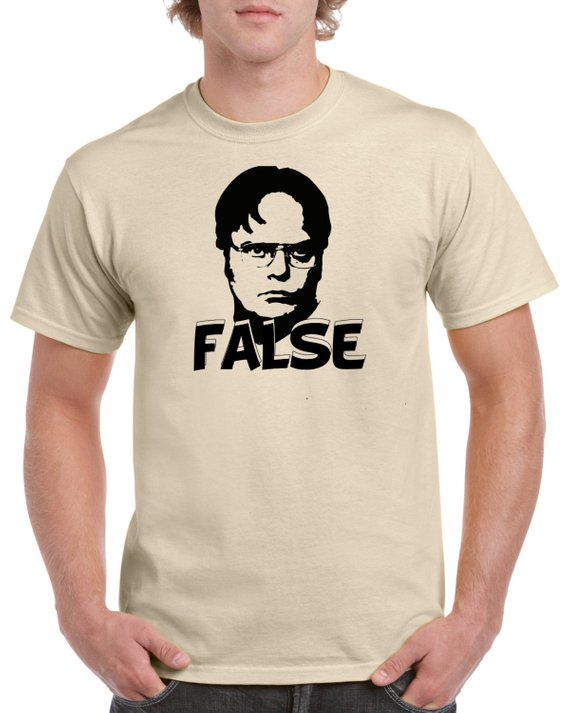 6596ab367 Dwight Schrute False Shirt - Funny Dwight Shcrute TV Show Shirt - Dwight  Schrute The Office TV Show
