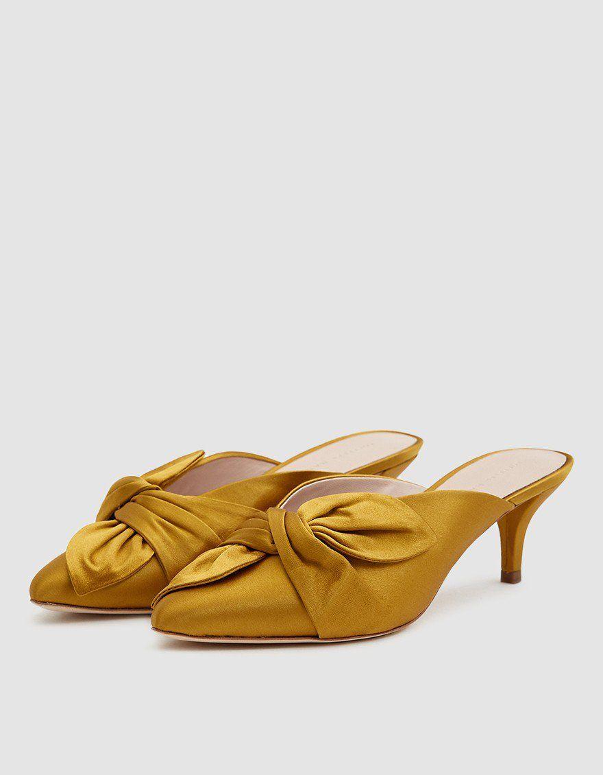 Jade Kitten Heel In Marigold Kitten Heels Heels Heeled Mules