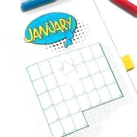 Pin on january bullet journal
