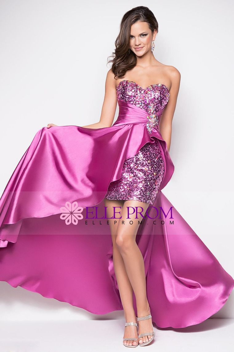 Chic&Modern Prom Dresses Asymmetrical With Beading&Sequins ...