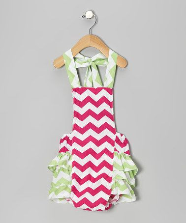 Another great find on #zulily! Hot Pink & Lime Zigzag Bubble Bodysuit - Infant #zulilyfinds
