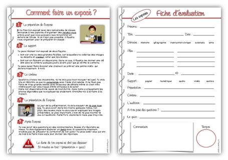 Fiche l ve comment faire un expos cycle 3 - Comment faire une grille d evaluation ...