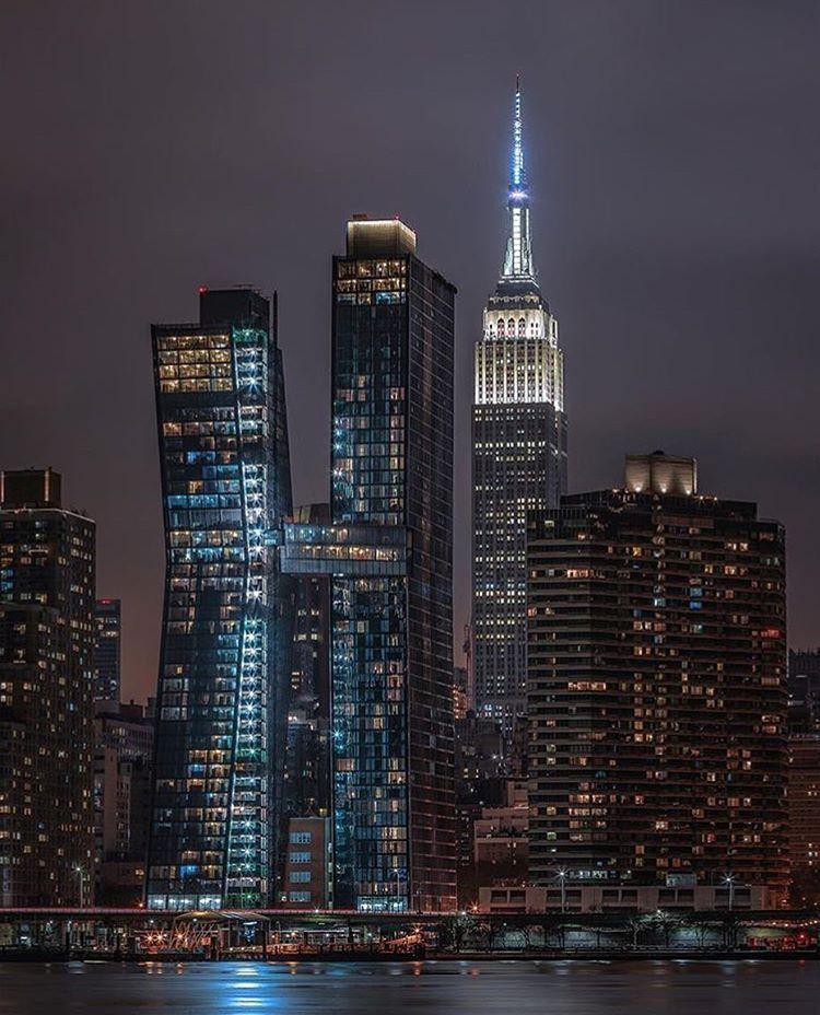 skyline new york nacht