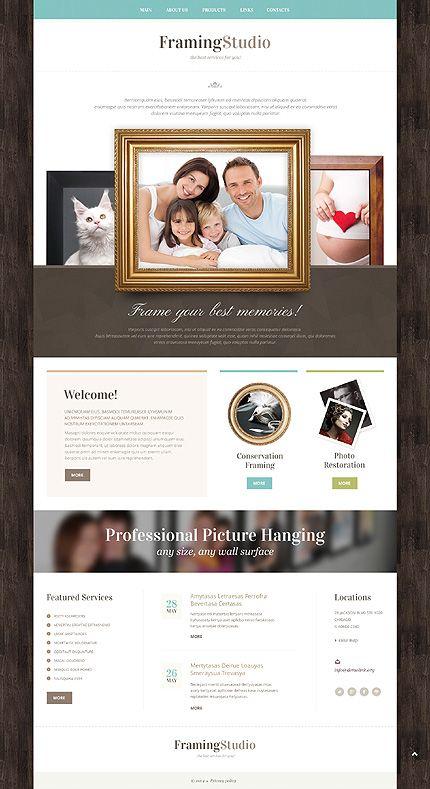 Template 49385 - Framing Studio Responsive Bootstrap Website ...