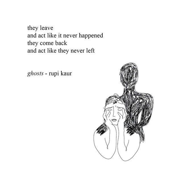 Ghosts by Rupi Kaur