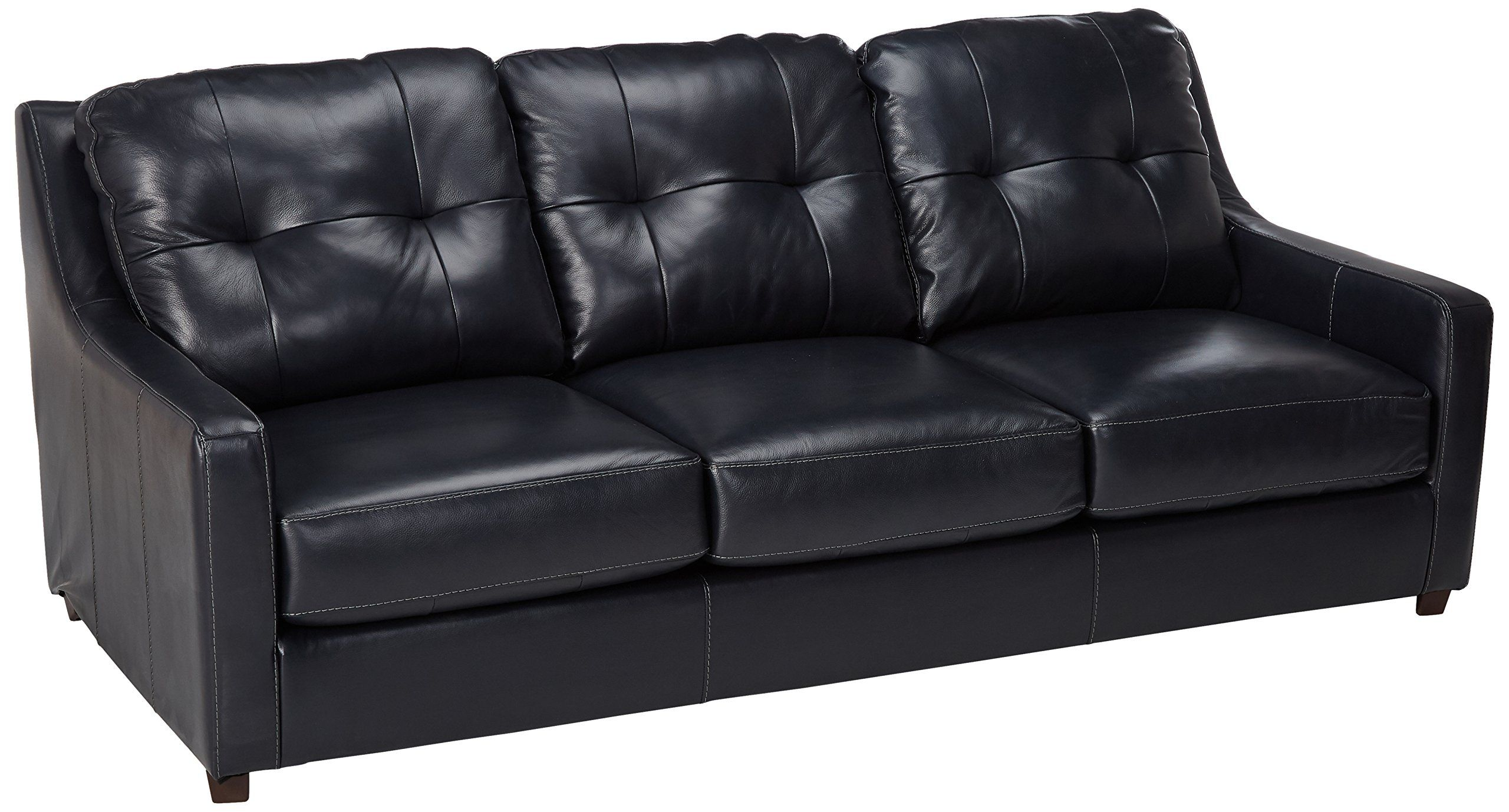 Ashley Furniture Signature Design Okean Upholstered Leather Queen Sleeper Sofas Contemporary Navy Ashley Furniture Living Room Couch Decor Deep Seated Couch