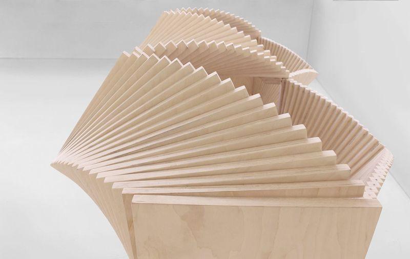 The Wave Cabinet opens up in an impressive fan-like motion