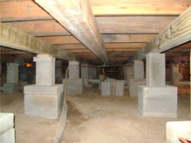 Pier beam concrete pier building pinterest beams for Pier beam house