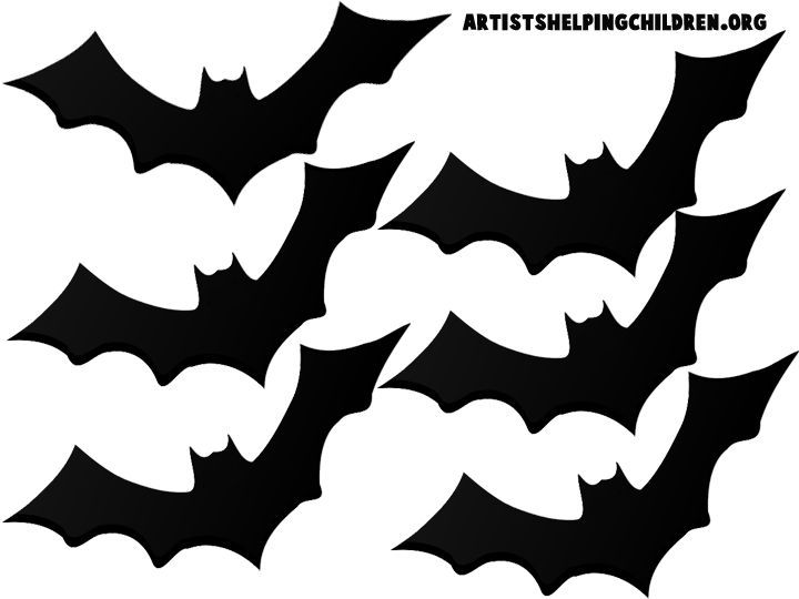 Image result for free printable bat templates for a halloween wreath ...