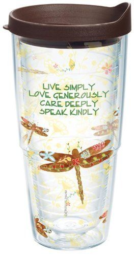 Tervis Tumbler Dragonflies Live Simply 24oz - Collegiate Patriotic Life-Time Guarantee INSP-I-24-DRNF-WRA by Tervis, http://www.amazon.com/dp/B009AGCNSM/ref=cm_sw_r_pi_dp_vKOisb18VNTG1