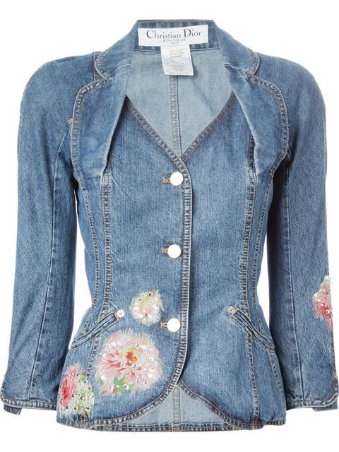 f896767dd8 Shop Christian Dior Vintage embellished denim jacket in House of Liza from  the world s best independent boutiques at farfetch.com. Shop 300 boutiques  at one ...