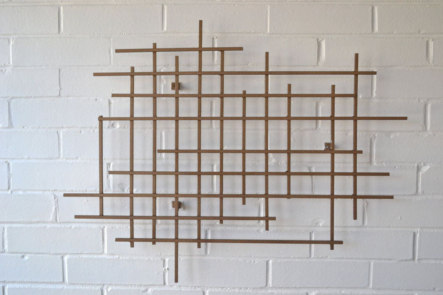 Mid Century Wall Decor This Is Very Cool Abstract Steel Cut Nail Wall Sculpture On