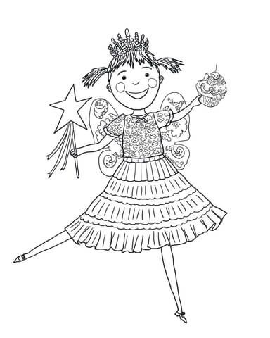 free pinkalicious coloring pages | Pinkalicious with Pink Cupcakes coloring page from ...