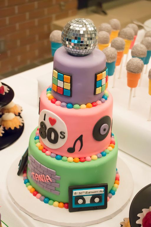 80 S Birthday Party Ideas Tania S Rockin To The 80 S