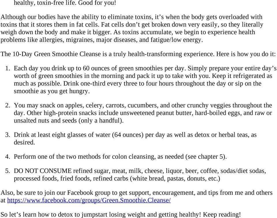 10day green smoothie cleanse by jj smith pdf free