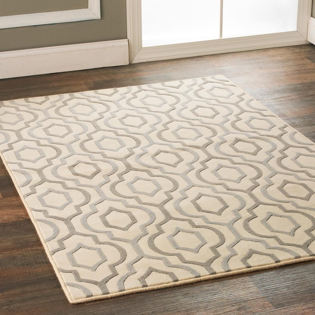 Arabesque Diamonds Area Rug Gray And Gold Room Size