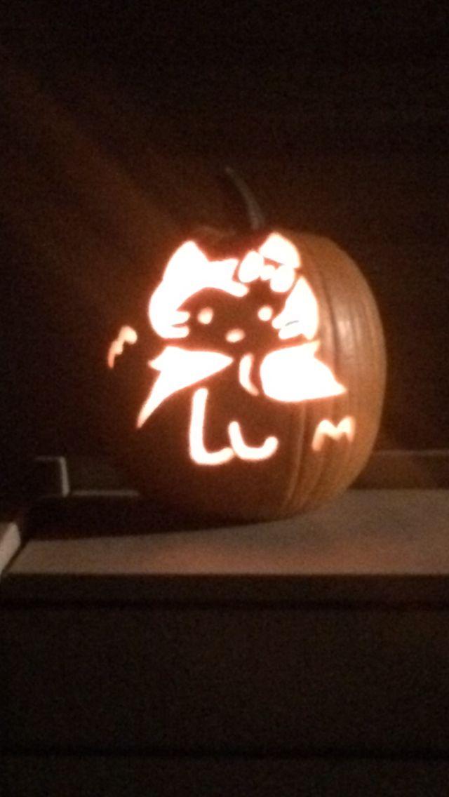 hello kitty vampire pumpkin carving pumpkins rh pinterest at