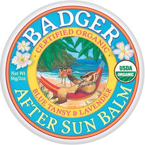 Actually helps better then most of those Aloe sun burn lotions. And it smells really good! Gotta love badger!!!