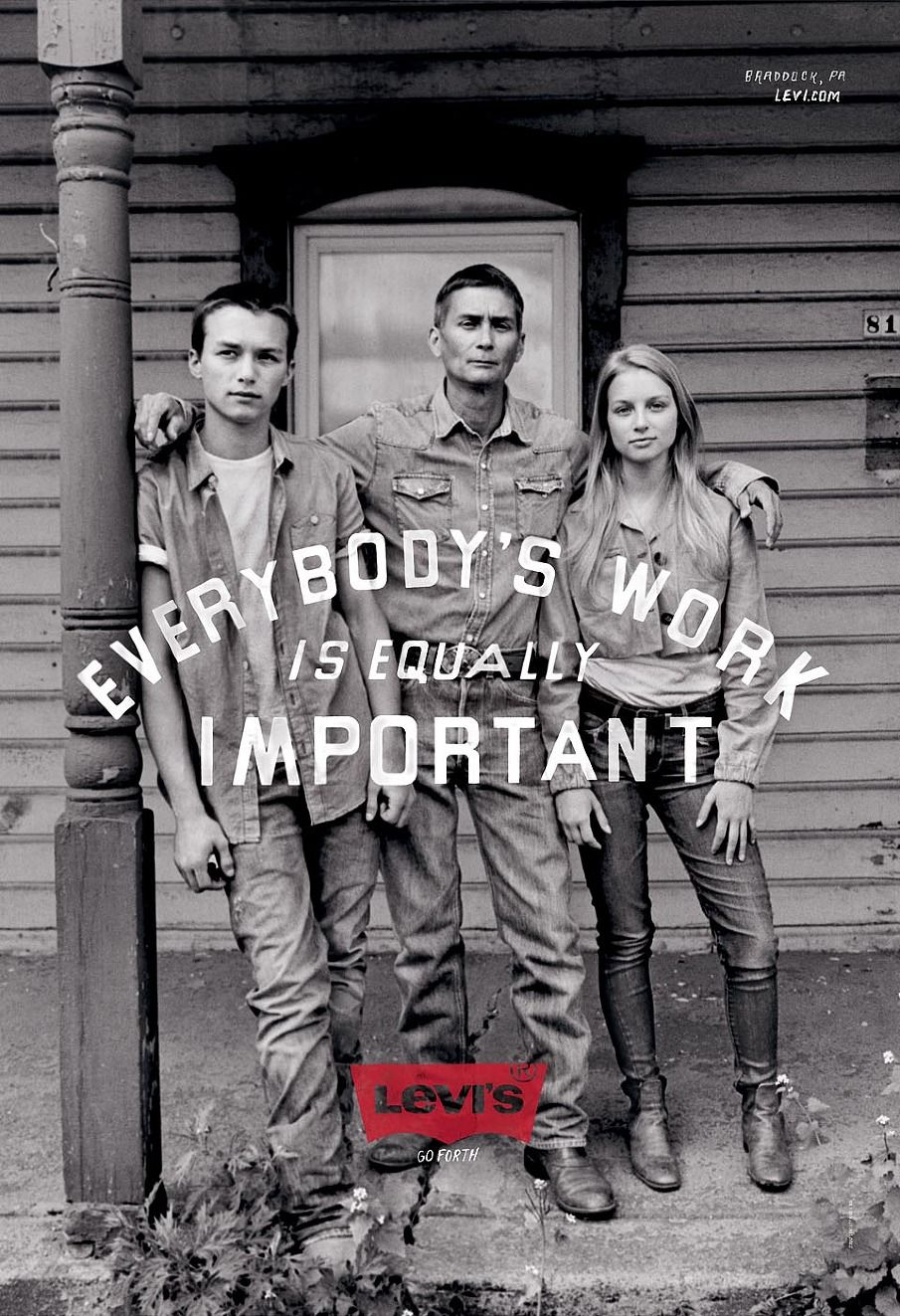 "Levi's ""Go Forth"" Ready To Work campaign - print ad ..."