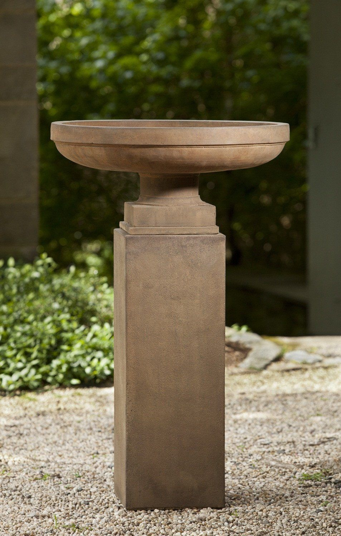 Campania International Cast Stone Cliveden Urn W Tall Square Ped Stone Planters Garden Urns Urn Planters