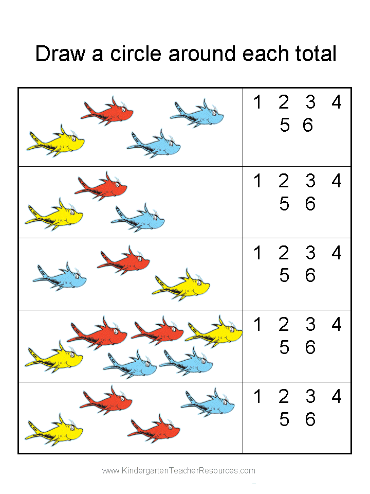 Free printable Dr Seuss math activities. Many more math worksheets ...