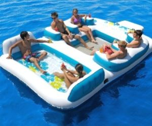 Big Inflatable Floating Island   I Want More Toys!   Cool Gifts, Unique  Gadgets