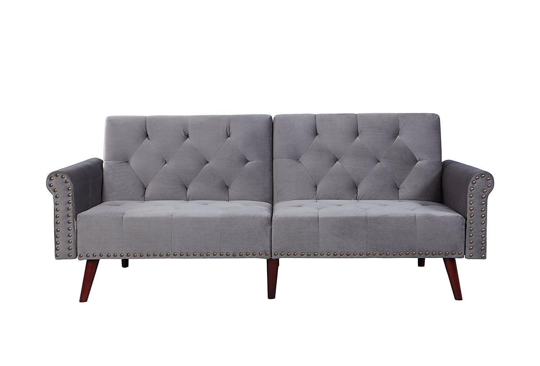 Peachy Amazon Com Modern Tufted Velvet Splitback Recliner Sleeper Pabps2019 Chair Design Images Pabps2019Com