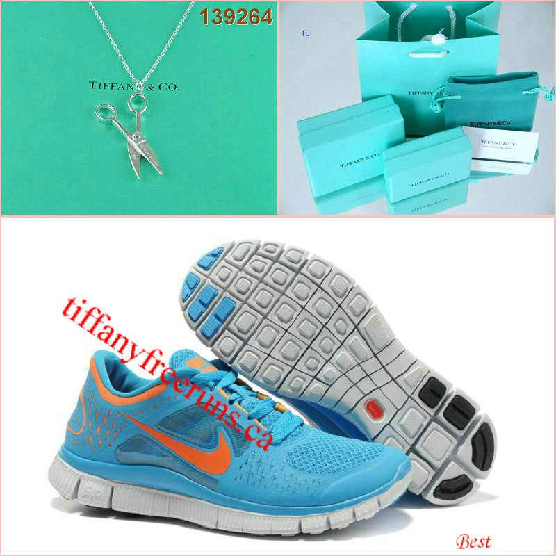 sneakers for cheap 25d5d dbce3 Nike Free Run 3 Blue Glow Platinum Scissors Tiffany  CO Necklace
