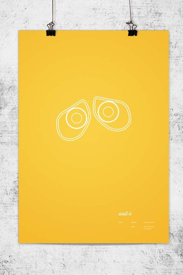 Carteles minimalistas de Pixar Wall-e