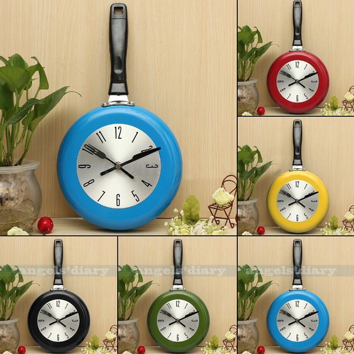 Modern Unique Wall Clock Idea From Kitchen Utensil Cutlery Pan Clock ...
