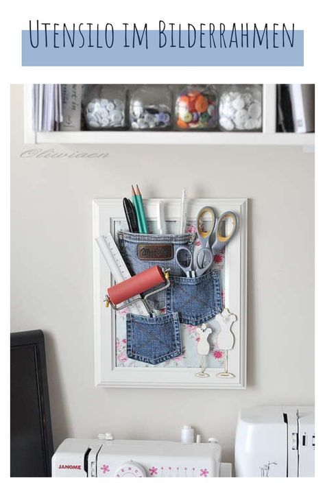 Upcycled Denim Pocket Organizer Slideit.top Denim