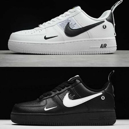 New 2019 Air Force 1 07 lv8 Utility Shoes Mens BlackWhite