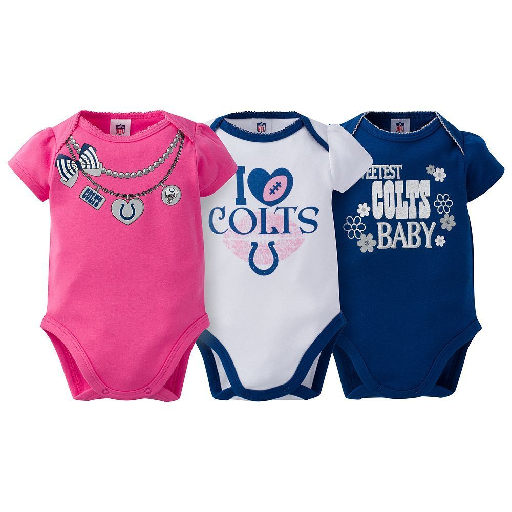 1e2eb32e Baby Indianapolis Colts 3-Pack Love Bodysuit Set in 2019 | Products ...