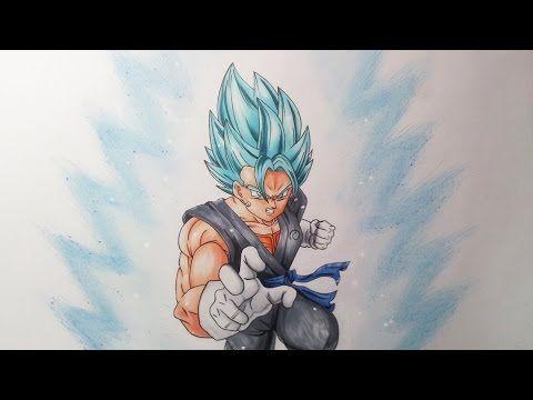 drawing vegito ssgss super saiyan god super saiyan super saiyan blue youtube