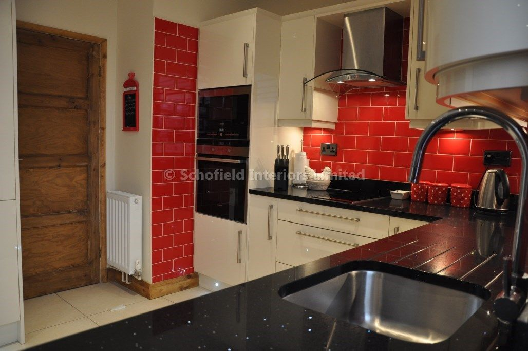 red and cream kitchens and tiles tile design ideas 851