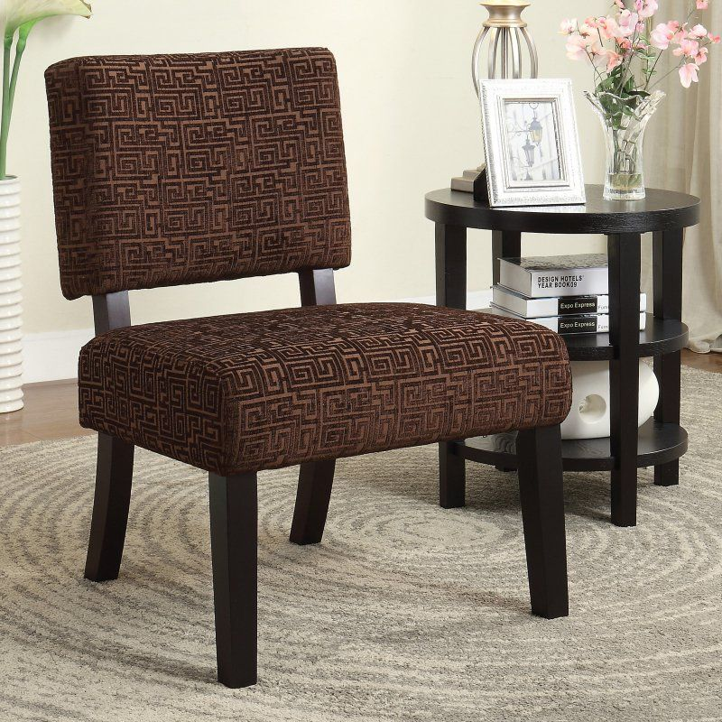 Ave Six Jasmine Armless Accent Chair Jas X38 Armless