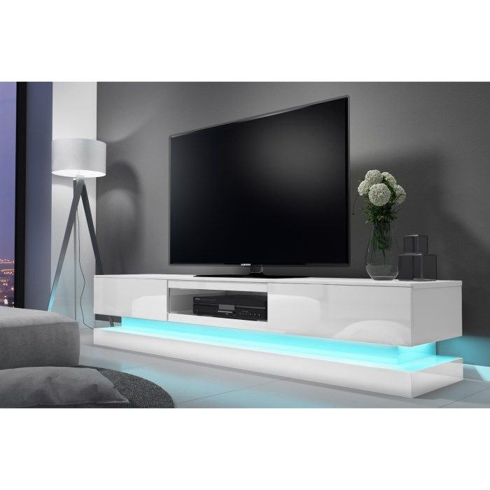 Evoque Led White High Gloss Tv Unit With Lower Lighting High Gloss Tv Unit Tv Unit