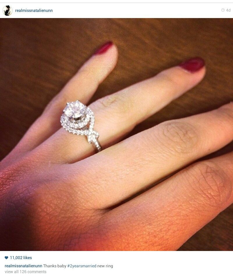 Natalie Nunn S Wedding Ring Upgrade 2 Yr Anniversary