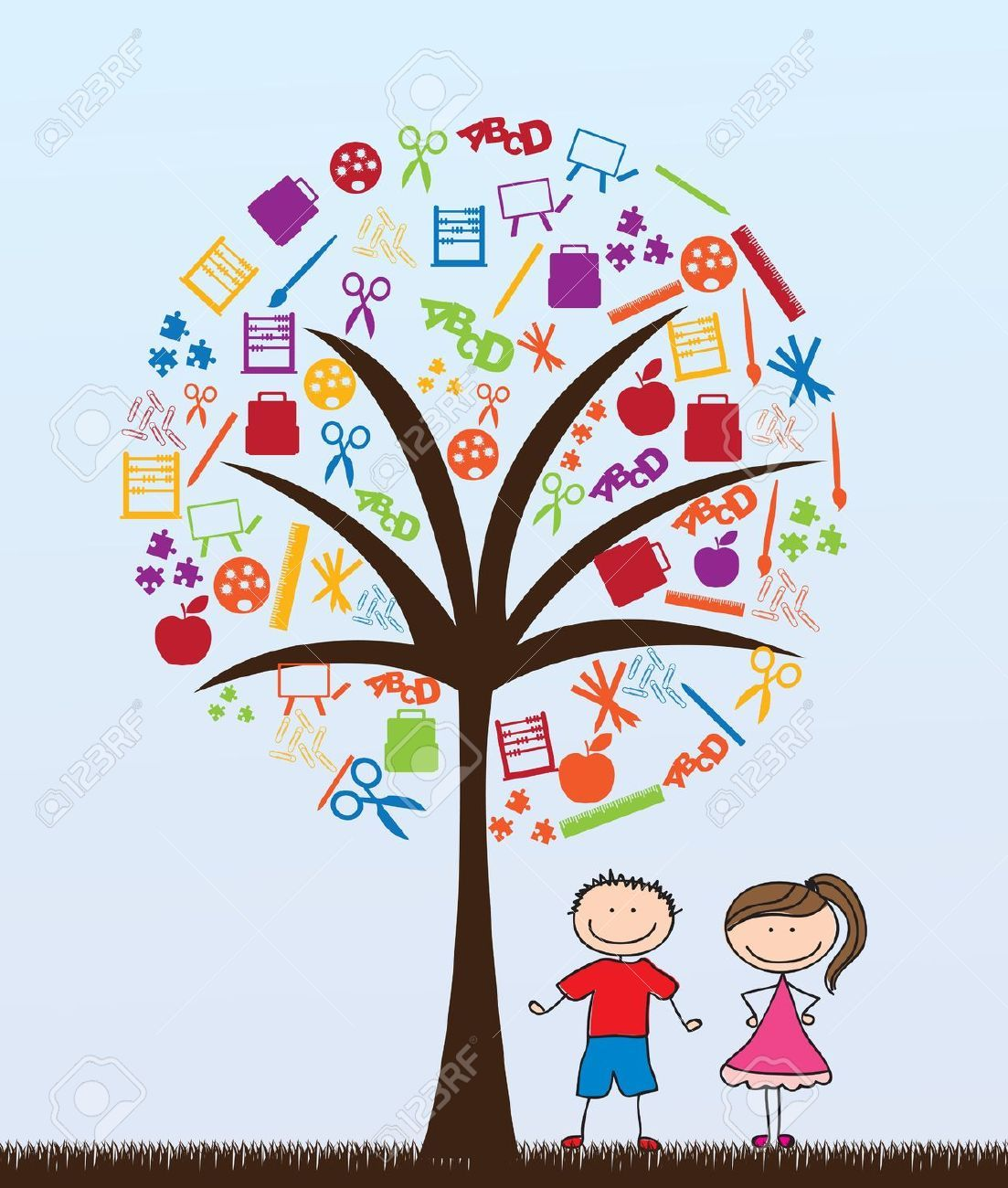 Church Nursery Pictures Google Search: Children And Tree Clipart - Google Search