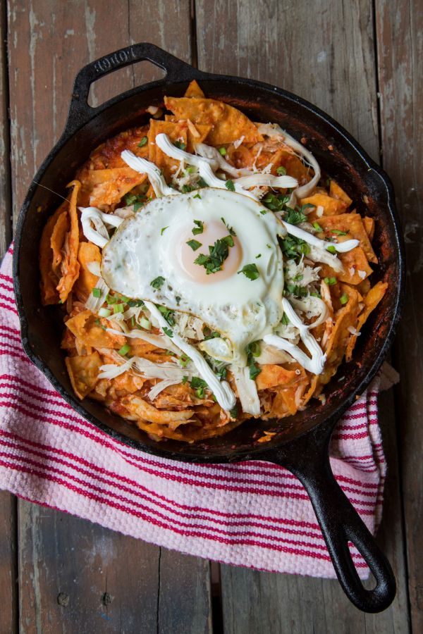 Chilaquiles Made From Leftover Enchiladas Yum Recipes To Share