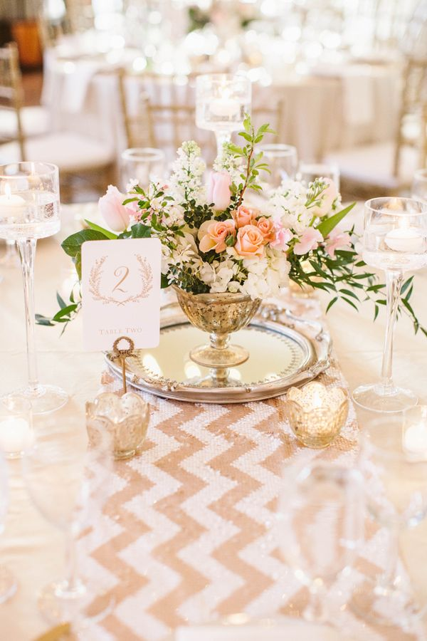 Superior Gold Chevron Table Runner   Photo By A Muse Photography Http://ruffledblog.