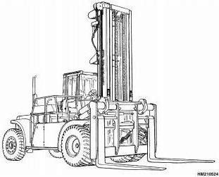 Hyster Forklift Truck E008 Series: H440FS, H550F(S), H620F