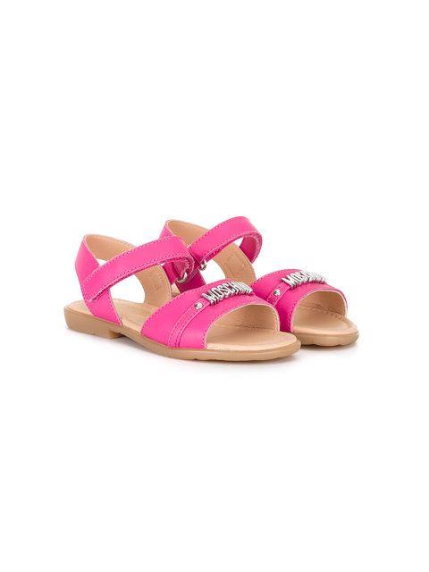 d4dd0b44c Shop Moschino Kids logo sandals .
