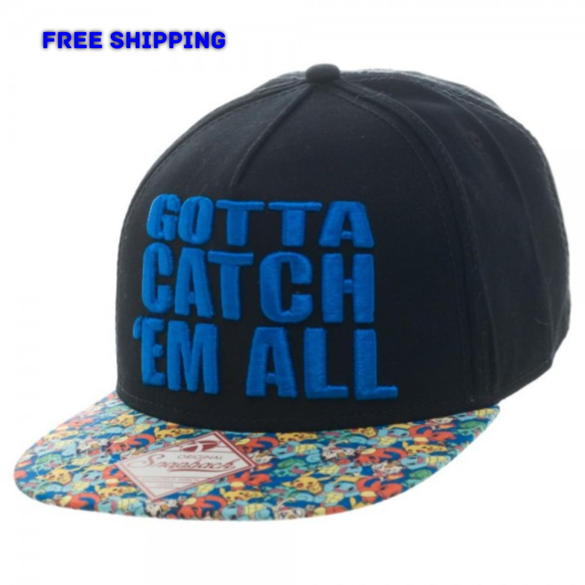 Nintendo Pokemon Go Gotta Catch Em All Snapback Cap Hat Pikachu Ash ... c9f60bfad9bc