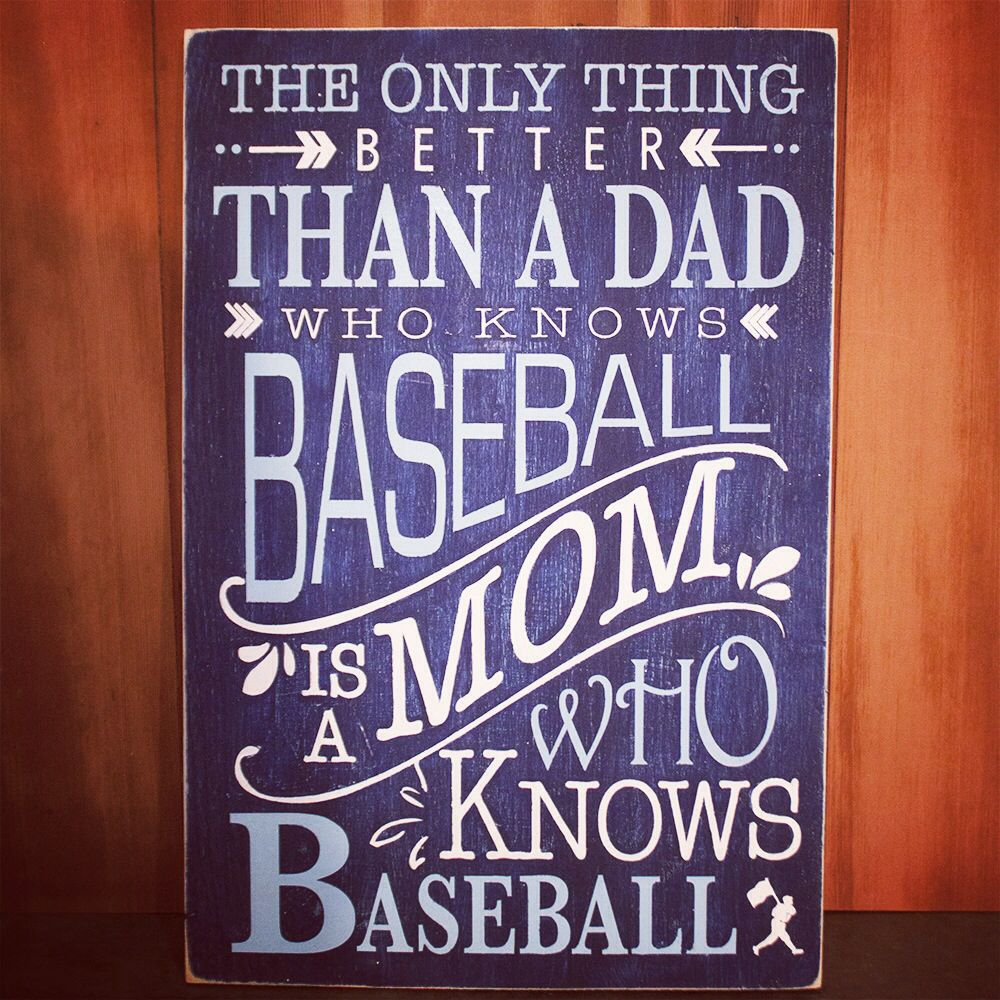 Baseball Quotes About Life For The Mom's Of Baseballhand Crafted Painted And Distressed